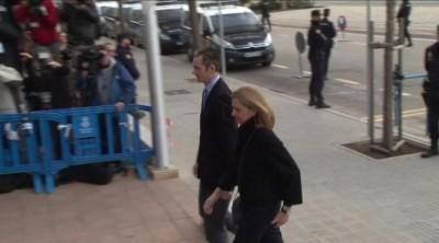 La Infanta Cristina e Iñaki Urdangarín llegan a la segunda sesión del juicio por el Caso Nóos