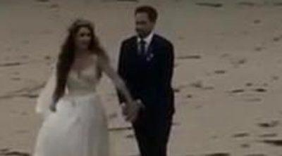 Troian Bellisario y Patrick J.Adams se casan en la playa