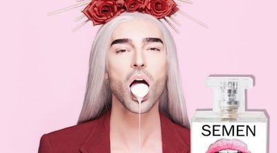 Anuncio de 'Semen', el nuevo perfume de Miguel Vilas