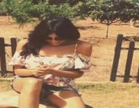 Raquel del Rosario se tira un cubo de agua por la ELA