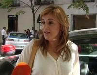 Ana María Aldón, muy feliz en su primer día en el Grado de Diseño de Moda