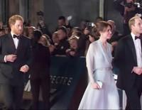 Los Duques de Cambridge y el Príncipe Harry, protagonistas en el estreno de 'Spectre'