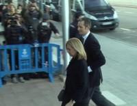 La Infanta Cristina e Iñaki Urdangarín, más relajados en la tercera sesión del juicio por el Caso Nóos